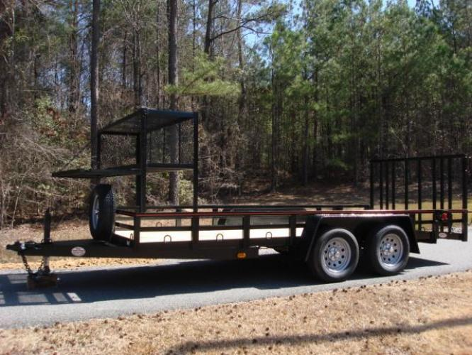 2020 Black Macon Custom Trailers Utility & Landscape , located at 1330 Rainey Rd., Macon, GA, 31220, (478) 960-1044, 32.845638, -83.778687 - Photo #10