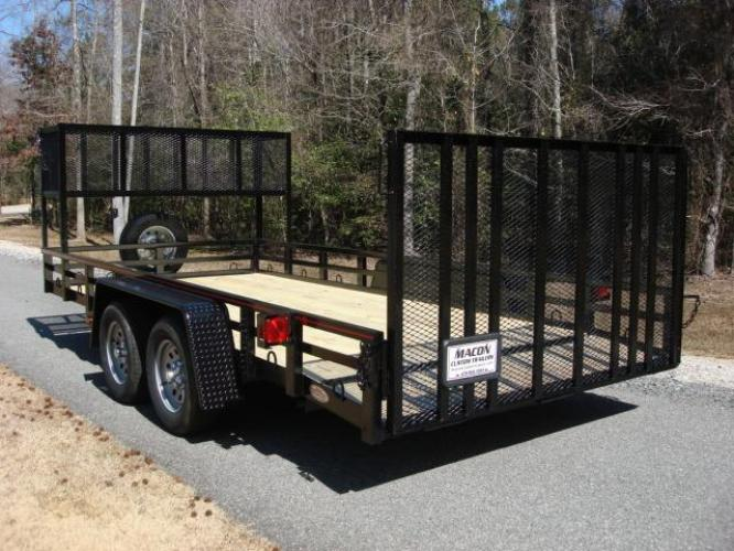 2020 Black Macon Custom Trailers Utility & Landscape , located at 1330 Rainey Rd., Macon, GA, 31220, (478) 960-1044, 32.845638, -83.778687 - Photo #1
