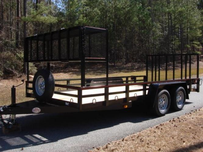 2020 Black Macon Custom Trailers Utility & Landscape , located at 1330 Rainey Rd., Macon, GA, 31220, (478) 960-1044, 32.845638, -83.778687 - Photo #19