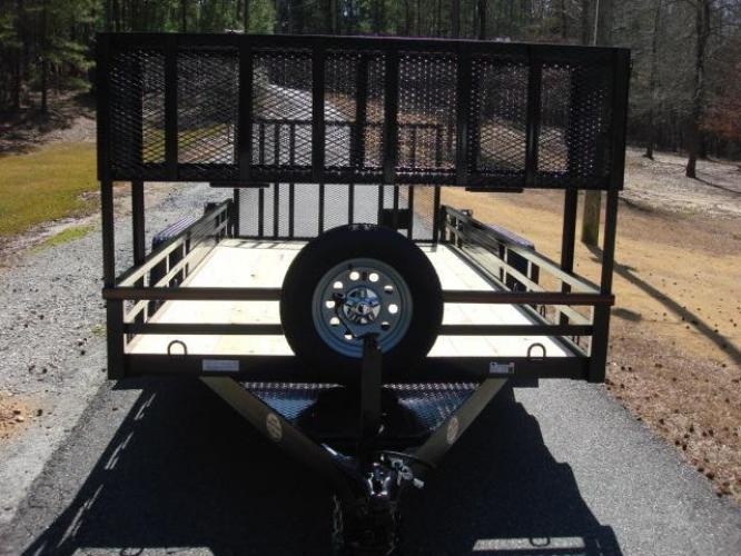 2020 Black Macon Custom Trailers Utility & Landscape , located at 1330 Rainey Rd., Macon, GA, 31220, (478) 960-1044, 32.845638, -83.778687 - Photo #4