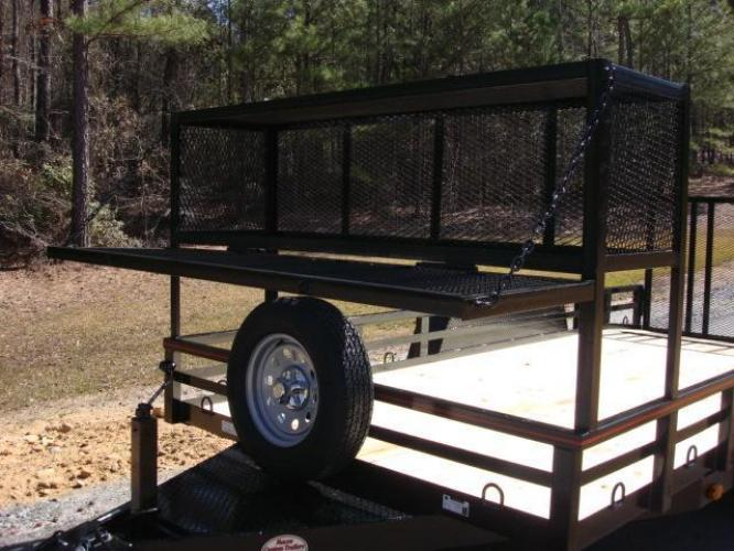 2020 Black Macon Custom Trailers Utility & Landscape , located at 1330 Rainey Rd., Macon, GA, 31220, (478) 960-1044, 32.845638, -83.778687 - Photo #8